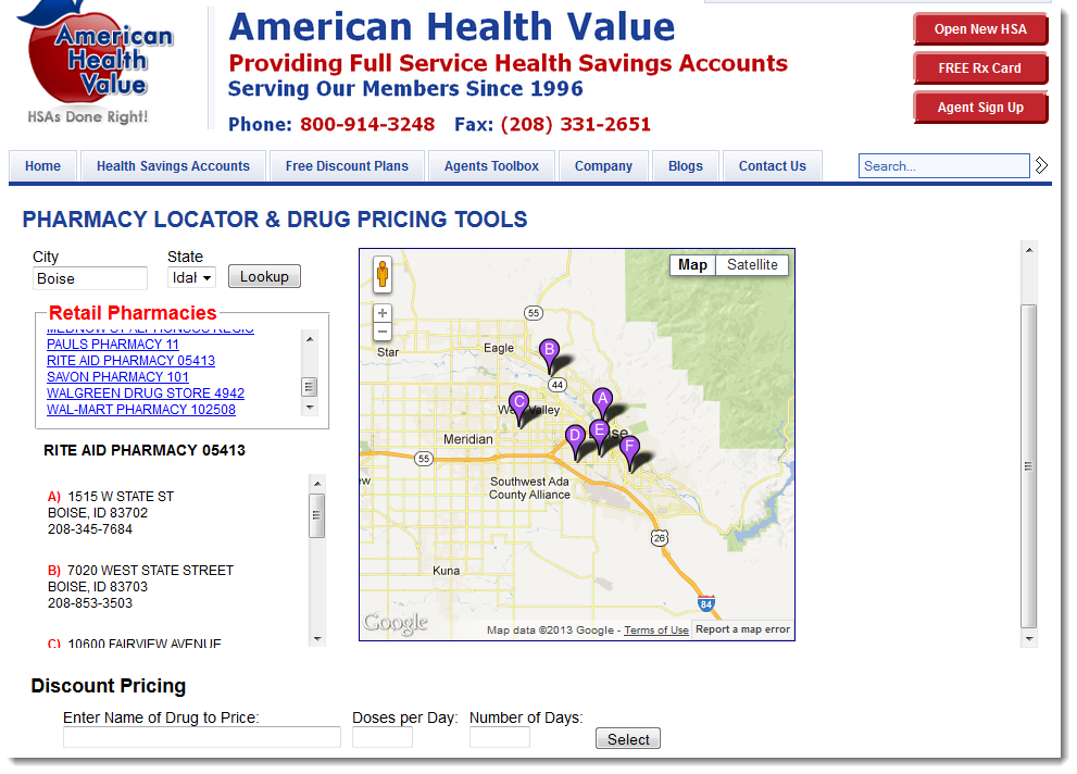 Pharmacy Locator and Prescription Pricing Tool