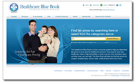 Healthcare Blue Book Homepage