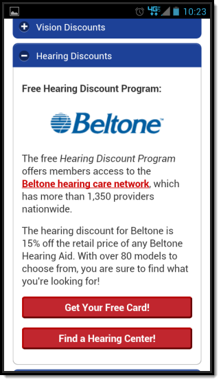 American Health Value Mobile Website Hearing Discount