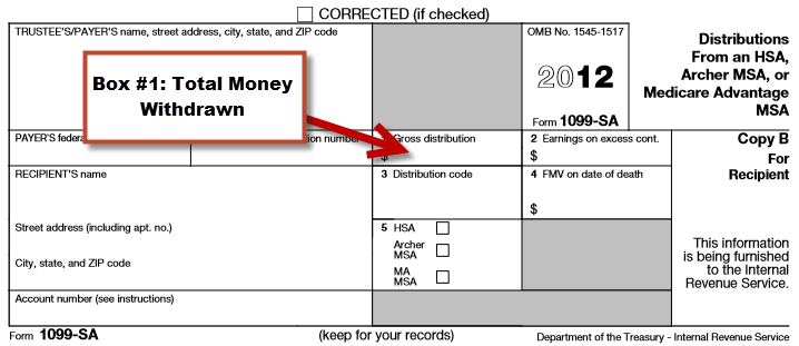 IRS Form 1099-SA Box 1