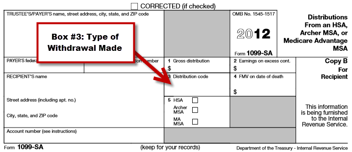IRS Form 1099-SA Box 3