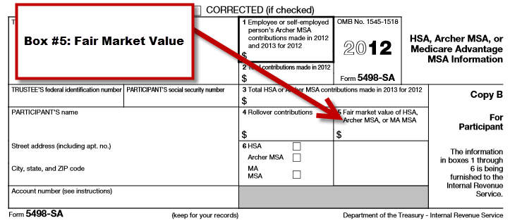 IRS Form 5498-SA Box 5